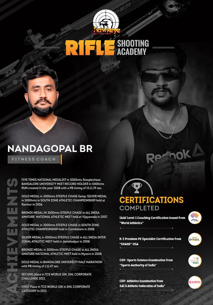 nandagopal, coach - Hawkeye Rifle Shooting Academy