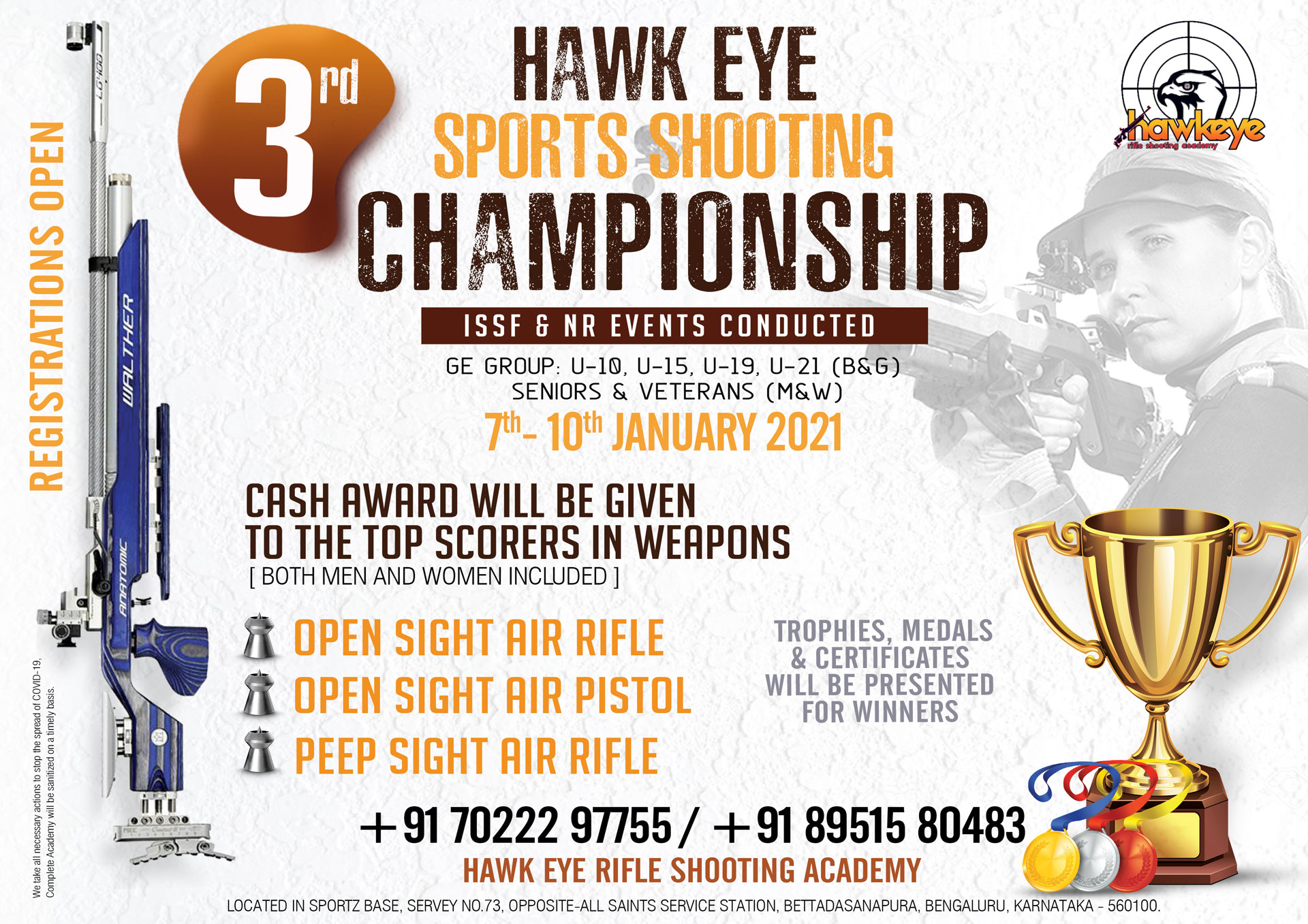 3rd HAWK-EYE SPORTS ACADEMY OPEN SHOOTING COMPETITION & CHAMPIONSHIP - 2021